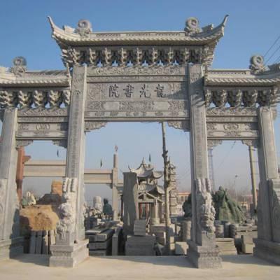 肇庆市新农村石雕牌楼门楼产地供应