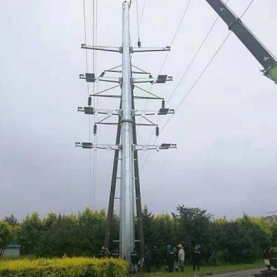 漠河市双回路电力钢管塔热镀锌110kv电力钢管塔
