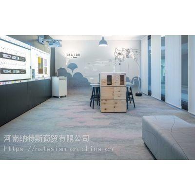 深圳PVCBOLON波龙编织地胶编织地毯厂家直销异形扁丝细丝S丝商用地毯塑胶地板