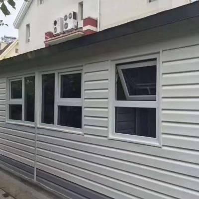 四川pvc外墙挂板板厂家 户外装饰板 仿木纹干挂扣板 外墙快装板