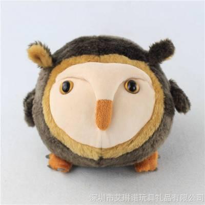 毛绒玩具礼品定做 吉祥物公仔猫头鹰玩偶 创意玩具工厂来图定制