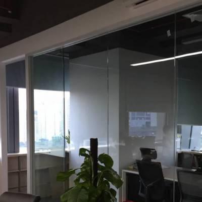 深圳新型办公室玻璃电动百叶隔断厂家
