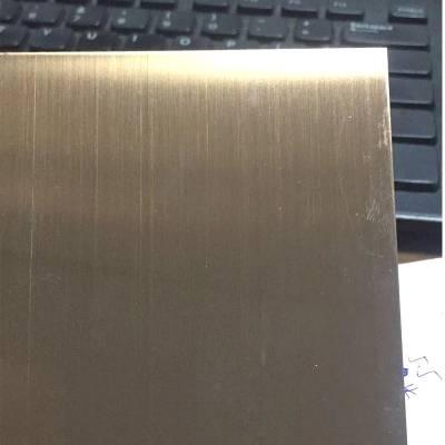 防指纹拉丝玫瑰金不锈钢现货 201/304材质玫瑰金镜面板 拉丝板厂家