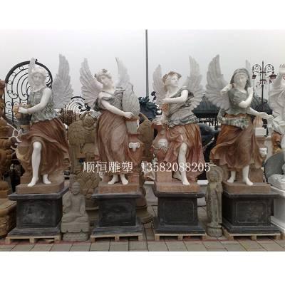四季女神雕塑大理石女神雕像欧式人物石雕厂家