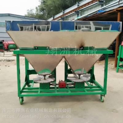拖拉机后悬挂大型双盘撒肥机 旋耕机加装施肥机 12v电动双箱播种机