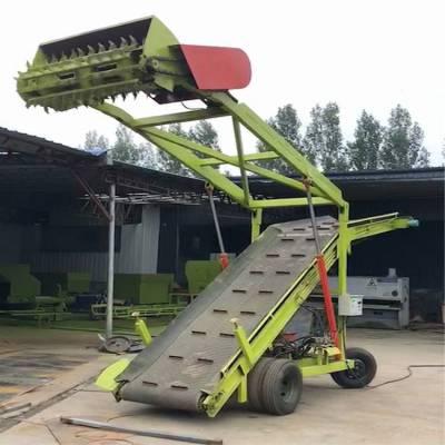 饲草储存青贮取料机 移动式取草机 电动高空取料机