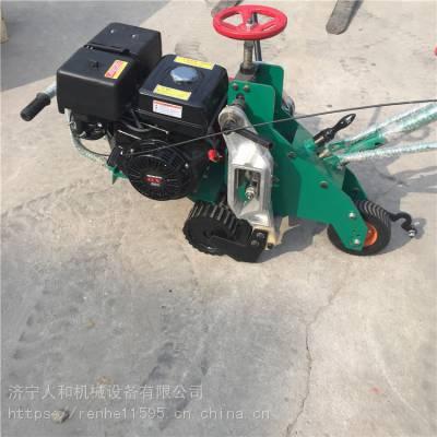 小机器大用途公园绿地草坪起草皮机手推汽油13马力球场草坪移植机铲草皮切块机厂家
