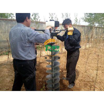 手提式挖坑种树机 拖拉机带挖坑机 汽油地钻机