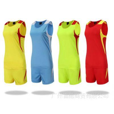 新款田径服套装男女同款长跑马拉松衣服运动跑步比赛训练短裤背心