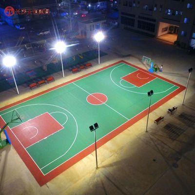 衡阳社区彩色篮球场地胶价格-耒阳广场塑胶篮球场材料施工工程