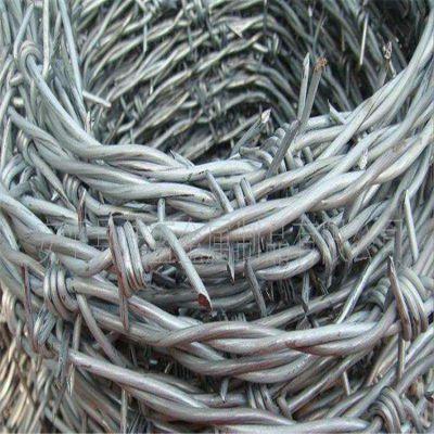 镀锌包塑铁丝网 隔离带刺防护网 刀片刺绳网