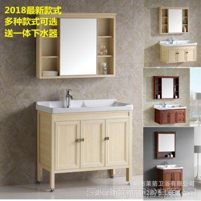 新款太空铝柜小户型柜组合洗漱台卫生间洗脸洗手面盆柜浴室柜组合
