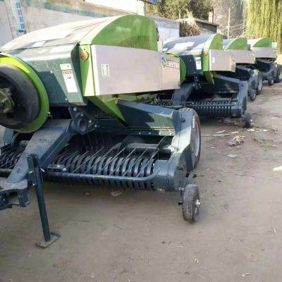 浙江四轮拖拉机带牧草秸秆打捆机 玉米秸秆粉碎打捆机 大型方捆打包机厂家报价