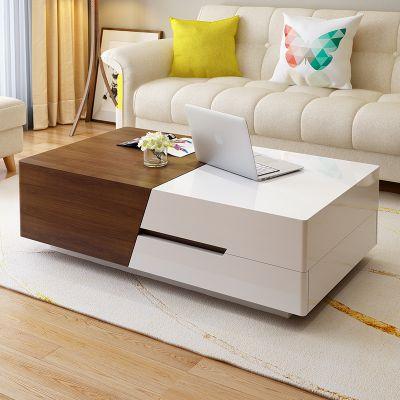北欧茶几电视柜组合现代简约小户型客厅可伸缩电视柜套装
