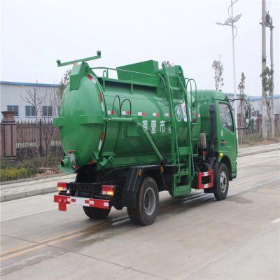 东风多利卡挂桶垃圾车厂家 垃圾压缩车价格表