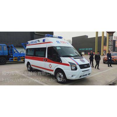 全顺V348救护车 国V长轴高顶矿山救护车厂家