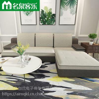 大连软包家具F111-16客厅简约布艺组合沙发工厂直销大连家具