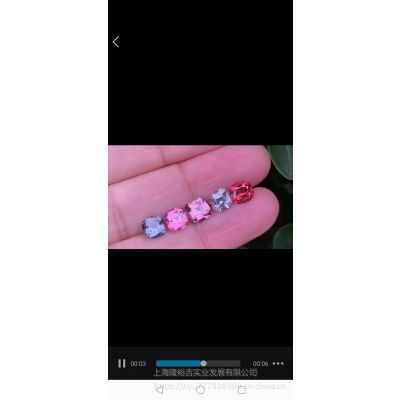 矿区直供优质彩色尖晶石供货晶体品质5克拉保真销售鉴定证书