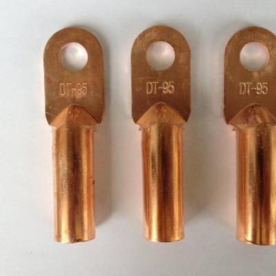 铜线鼻子镀锡堵油式铜接头接线端子DT-35平方国标紫铜线耳铜管鼻