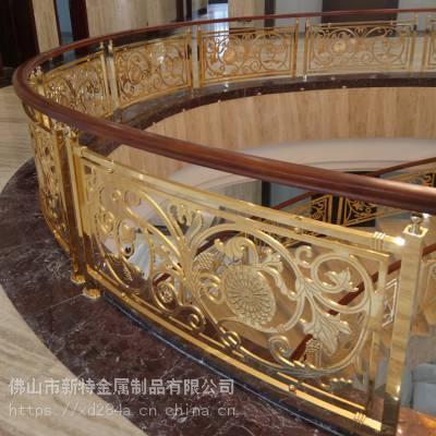别墅式铜艺楼梯扶手新品上市