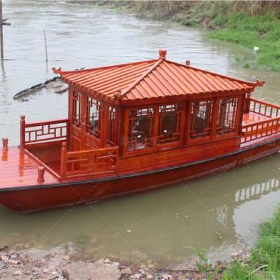 江西旅游船 戴氏电动游船 江西抚州木船厂家定制6米景区旅游船