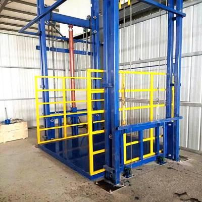 定做厂房车间仓库载重2吨导轨式液压升降机、2/3层导轨式升降平台、液压升降机、现货全国直发