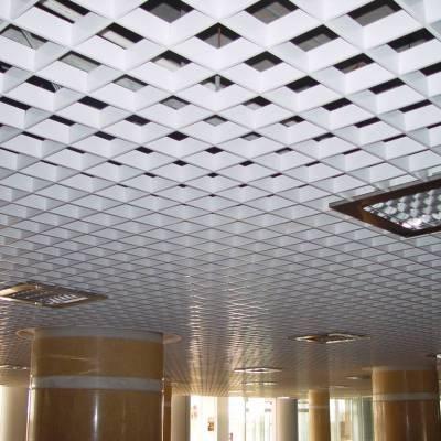 U型铝格栅吊顶-格子形状铝天花
