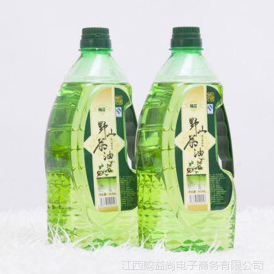 井冈山特产野生山茶油1.8L装低温压榨一级食用油山茶籽油月子油