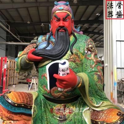 佛像定做 武财神关羽 道教神像关圣帝君关二爷 浙江温州佛像厂家
