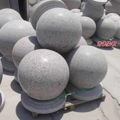 花岗岩圆球多少钱一个,直径50公分的花岗岩五莲红石球价格