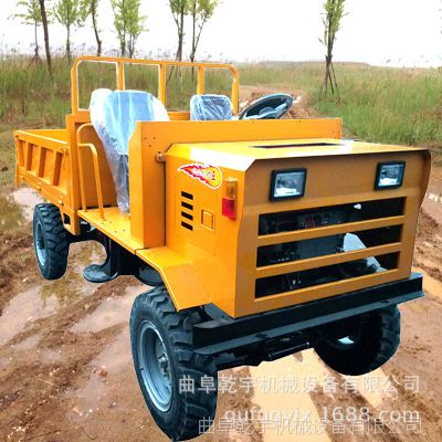 狭小空间灵活操作的建筑工地工程四轮车 简易棚爬四驱柴油拖拉机