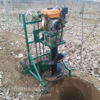 手提式汽油挖洞机 金佳多功能植树专用挖坑机 大马力家用汽油打坑机