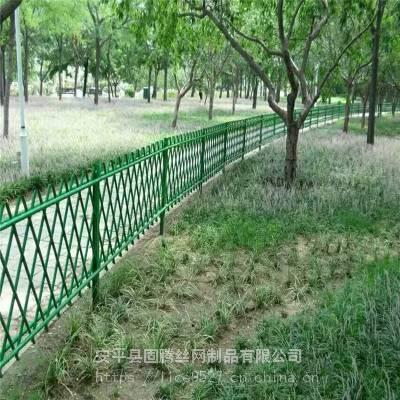 公园不锈钢仿竹护栏 仿竹金属管栅栏 小区绿化竹节护栏