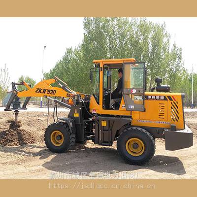 线杆打洞机,装载机改装水泥杆挖坑机型号,四轮式液压钻孔机大名县
