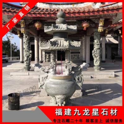 宗祠香炉雕刻 惠安石雕香炉厂家