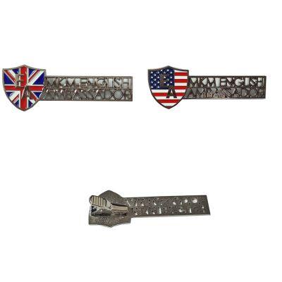 厂家供应金属领带夹定做各种服装钛夹镀银铜夹子定制