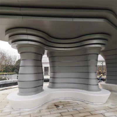 供应南京广场造型屋顶崇天匠双曲铝单板氟碳漆抗紫外线
