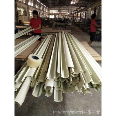 加油站柱子圆角铝【圆弧R60】白色高光立柱包边铝圆角长度6000mm