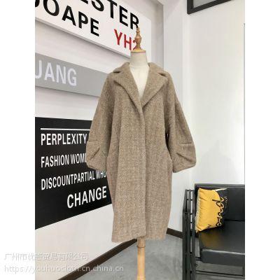 厂家直销女装尾货分份走份 黄金貂大衣冬装百搭外套进货渠道批发