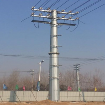 四平市双回路电力钢管杆重量 双回路电力钢管塔生产厂家 霸州市顺通电力设备厂