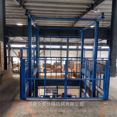 上饶防爆导轨式升降机厂家 定制2吨三层工业升降货梯 提供原厂配电箱 油缸 电机