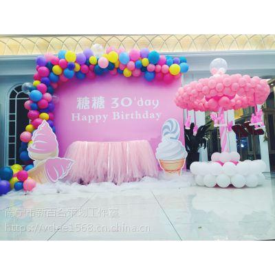 南宁满月宴策划,宝宝满月酒场地布置怎么少得了气球布置-新百和气球