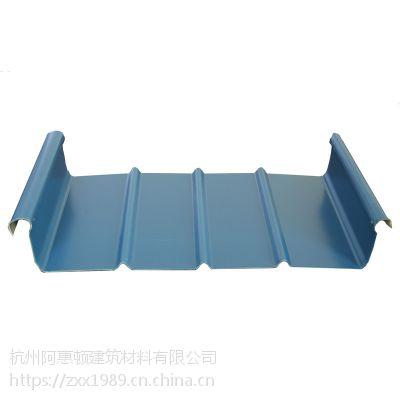浙江杭州 厂家直销 65-430直立锁边系统铝镁锰金属屋面厚度0.9mm