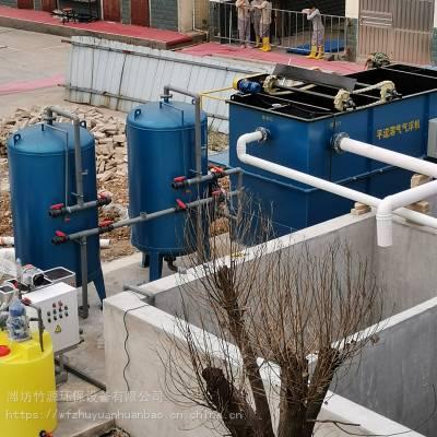 广东养猪场粪水处理装置安装调试现场,絮凝沉淀装置一体化设备、消毒设备-多介质过滤装置、气浮装置、竹源