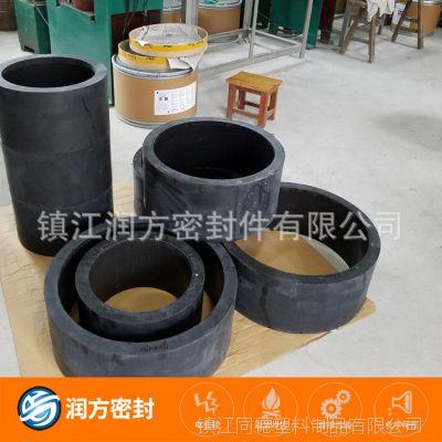 聚四氟乙烯超强耐磨损制品  防抱死:四氟填充碳纤维大尺寸模压管