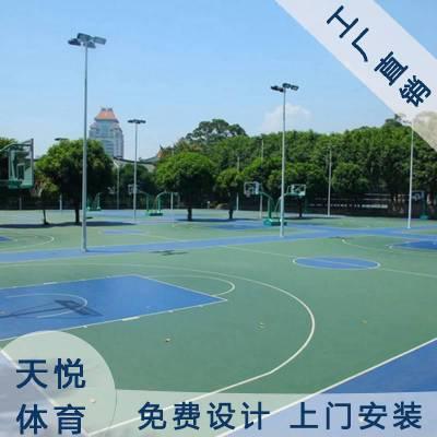 篮球场室外地胶,天悦四川篮球场PVC地胶价格,塑胶运动地板批发