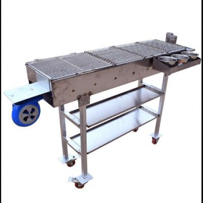折叠烧烤架 可收折烧烤架 简易折叠烧烤架 多功能 野外 可折叠 便携式 带轮子