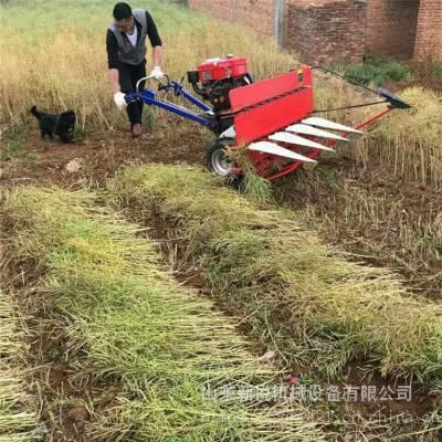 新悦手推式宽幅稻麦收割机 甜叶菊割晒机 秸秆割倒机厂家