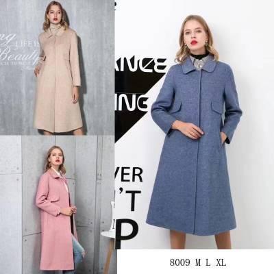 欧美纯色高端品牌金叶德双面羊绒大衣品牌折扣批发广州女装批发服装一手货源