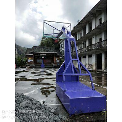龙胜白水村委移动篮球架安装